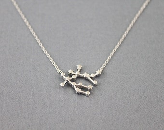 Gemini Constellation Necklace Zodiac Sign Necklace Birthday Gift Zodiac Jewelry Gemini Necklace