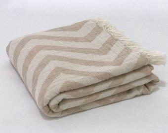 Turkish towel, turkish beige bath towel, beach towel, bath towel, hammam towel, peshtemal, best gift idea, zigzag towel, bath towel, spa