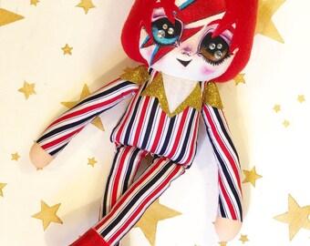 David Bowie Ziggy Stardust Doll PREORDER