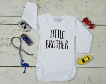 Little Brother Onesie, Brother Shirt, Newborn Shirt, Baby Shower Gift, Brother Shirt, Baby Boy Shirt, Newborn outfit, Boy's Shirt, Sibling