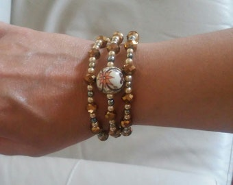 Ceramic Wire Harmonic Bracelet