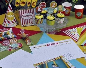 Circus printable party combo