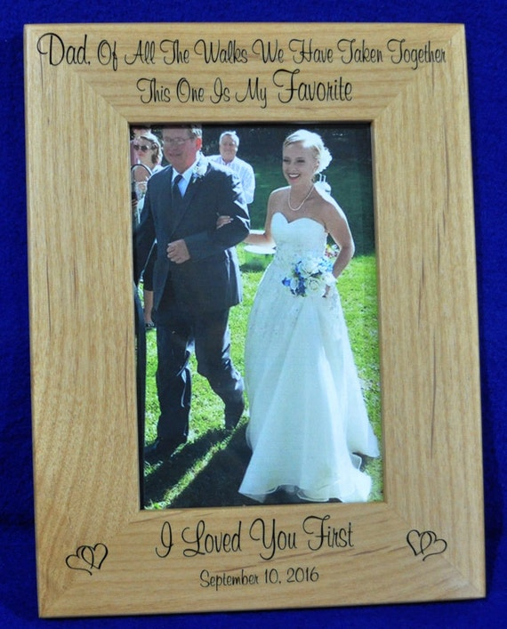 Father Of The Bride Frame Gift For Dad Birthday Gift For