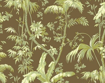 Light Green And Cream Tropical Leaf