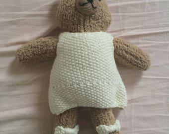 Mama bear hand knitted