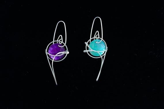 Colour Changes Drop Earrings, Mix & Match,3 free colours, sterling silver, gold filled, allergy safe niobium, rose gold