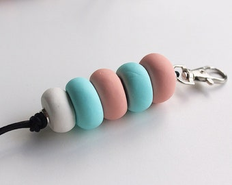 Fairy Floss Polymer Clay Keychain