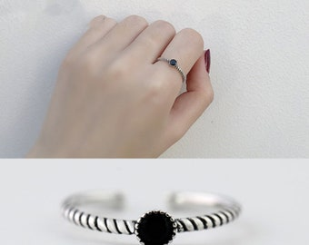 the black CZ ring