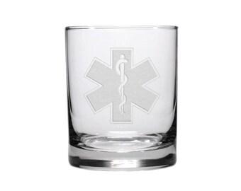 Paramedic Whisky Glass / Free Personalization / EMT Glass / EMS Glass / Graduate Gift / Personalized Glass / Personalized Gift