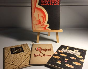 FOUR vintage/Antique Cook Books,Instant Collection.  from 1906,  1930;s, 1940's, and the 1950's