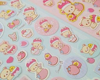 Rilakkuma Korilakkuma bear regal sticker sheets cute kawaii bears