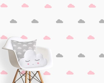 Clouds Wall Decals, nursery clouds decals, Baby Girl Nursery, Vinyl decals, kids wall decals,  Pink clouds decal, wall art kids
