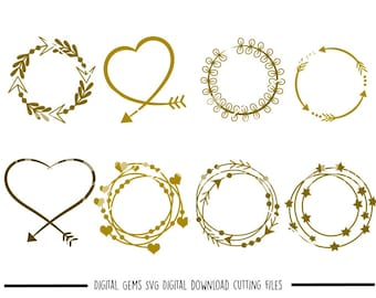 Tribal Circles, Arrow Circle Frames svg / dxf / eps / png files. Digital download. Compatible with Cricut, Silhouette, SCAL, Scan n cut etc.