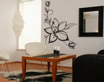 Vinyl Wall Decal Sticker Sketchy Flower 1020m