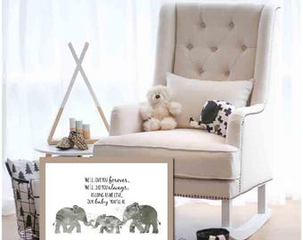 Gray Nursery Decor Boys Nursery Decor Gray Nursery Poster Gray Nursery Wall Art Poster Printable Nursery Printable Elephant Decor