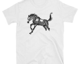 Watercolor Stallion Horse Gift T-Shirt