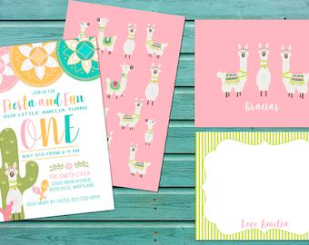 Fiesta and Fun First Birthday Invitation