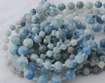 High Quality Grade A Natural Celestite (blue) Semi-precious Gemstone Round Beads - 6mm, 8mm, 10mm sizes