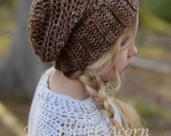 CROCHET PATTERN - Tyllie Slouchy (12/18m, Toddler, Child and Adult sizes)