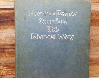 How to Draw The Marvel Way, 1978, Stan Lee, John Buscema, vintage book, art book, comic book