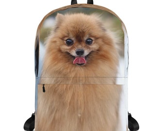 Pomeranian Puppy Love All Over Print Backpack