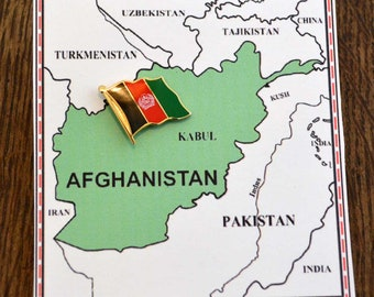 Afghanistan Flag Pin / Tie Tack / Lapel Pin / Country Flag Pin