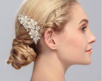 bridal comb, wedding comb, bridal hair piece, bridal hair jewelry, beauty-gift, wedding hair comb, wedding hair piece, crystal headpiece