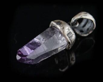 Raw Amethyst Crystal Penadant, delicate, minimalist, natural