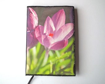 A6 Notebook Cover, Diary Cover, Planner Cover, Book Cover, Spring Flowers, Nature, Printed Canvas, Photo-Art, Free UK Shipping, UK Seller