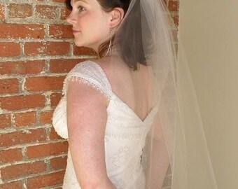 Wedding veil - cut edge bridal veil