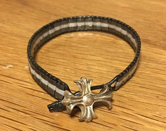 Handcrafted Silver on a Bracelet