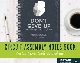 INSTANT DOWNLOAD [DIGITAL] Dont Give Up in Doing What is Fine! Jw Assembly Notebook   Jw Assembly