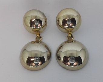 Gold Plated Vintage Pierced Earrings