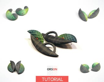 Orson's Originals Tango earrings in polymer clay Tutorial Ebook DIY Instructions - in English ONLY