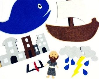 Jonah and the Whale Bible Felt Set**Sunday School/Homeschool**