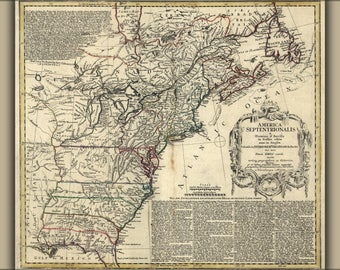 Poster, Many Sizes Available; Revolution Map Of United States Of America 1777