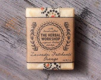 Lavender, Patchouli & Orange - Organic Soap