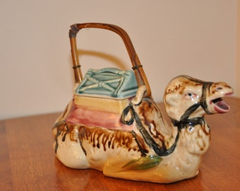 Vintage Collectable Hand Painted Ceramic Camel Teapot