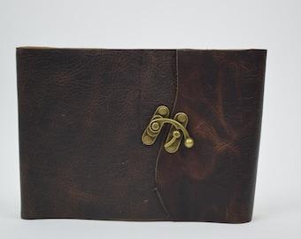 Photo Album - Rugged Leather Photo Album - Includes Photo Corners