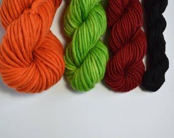 Primary Colors Yarn Pack, Weavers yarn pack, Knitters Yarn Pack, Yarn Combo, Red Orange Green Yarn