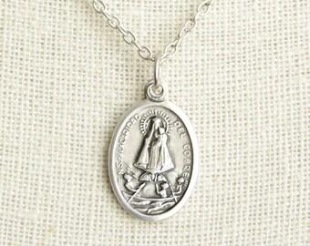 Saint Caridad del Cobre Medal Necklace. St Caridad del Cobre Necklace. Catholic Necklace. Patron Saint Necklace. Saint Medal Necklace.