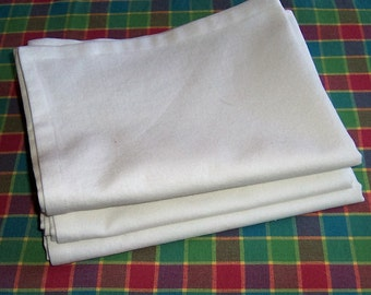 Kitchen Towel Blanks Set of 3, Dish Towel Blanks, Tea Towel Blanks, White Kitchen Towels, Cotton Kitchen Towels, Towels for Embroidery