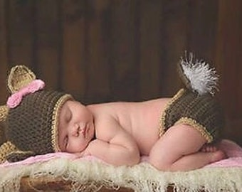 Baby deer costume - Newborn deer costume - baby costume - baby photo outfit - Newborn Costume - Newborn photo outfit