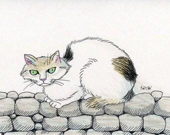 Cat original drawing - P001July2016