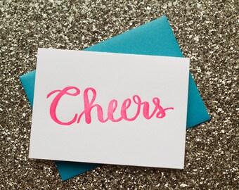 Letterpress Card // Cheers // Birthday