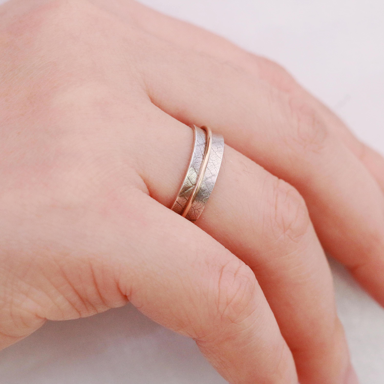 Reserved for Sandra Only: Sterling Silver&Gold Filled Spinner Ring ...