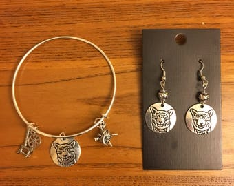 Llama/ Alpaca Bracelet and Earring set