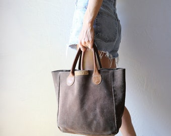 Vintage Leather Tote // G.H. Bass & Co .