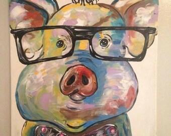 Pig in glades 16x20