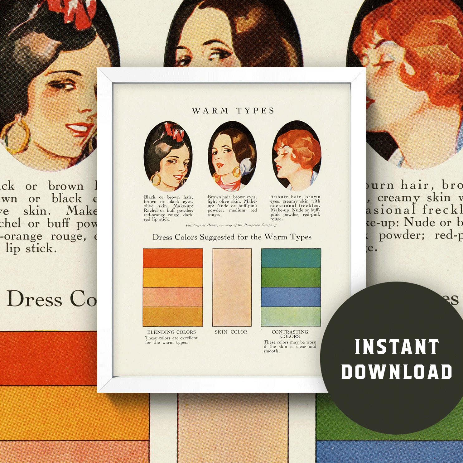 Fashion color chart print warm skin tones 8x10 zoom nvjuhfo Gallery